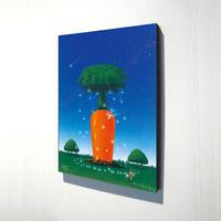 【デジタル版画/B4キャンバス】「にんじんの家」