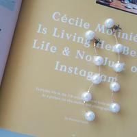 range pearl pierce,earring