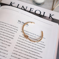 knot bangle(gold,silver)