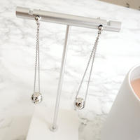 metal ball double chain pierce,earring