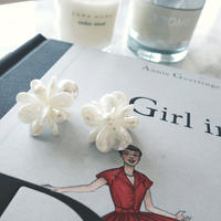 pearl beads flower pierce