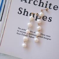 freshwater pearl pierce,earring