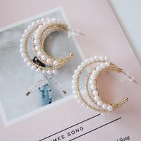 triple pearl hoop pierce