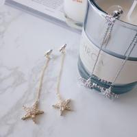 18k star chain pierce