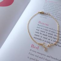 【14kgf】initial bracelet
