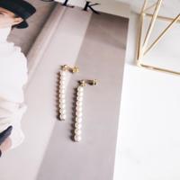 line pearl pierce,earring