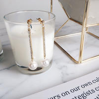 glitter bar pearl pierce,earring