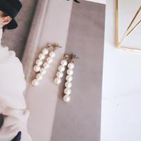 double line pearl pierce