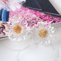 clear flower pierce,earring