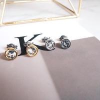 swarovski pierce(4mm)