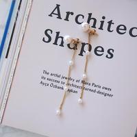 design chain pearl pierce,earring