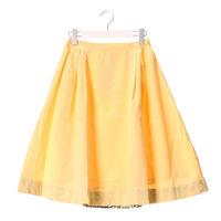 リネンサイドタックフレアスカート 【yellow】