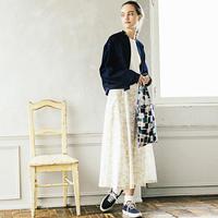 【SALE】lace flower コットンカディスカート