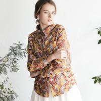 Blossom柄コーデュロイシャツ