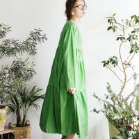 コットンモスティアードドレス
