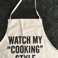 "DRESSSEN #60  ADULT APRON WATCH MY  ""COOKING"" STYLE"