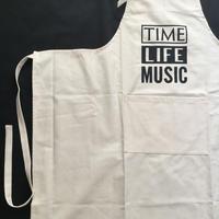 """DRESSSEN   PR17 THE PROFESSIONAL APRON"""" TIME LIFE MUSIC """" ※首の紐をお好きな位置で結んで固定できます。"""