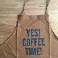 "⭕️ [先行発売] DRESSSEN DR(BRN) APRON  "" YES! COFFEE TIME!""  BROWN  COLOR⭐️2/25月曜日 再入荷しました。次回入荷未定です。"