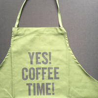"DRESSSEN DR(GRN)4 ""YES! COFFEE TIME!""APRON🟡5月28日再入荷します。今しばらくお待ちくださいませ。"