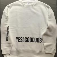 """[新色]DSS89 SWEAT  SHIRTS """" YES!GOOD JOB!/NO  THANK YOU """"(⭐️WHITE ホワイトCOLOR)"""