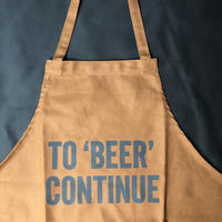 "DRESSSEN WPAB5   DAY USE W POCKET  APRON  ""TO ""BEER""CONTINUE""※正面に二つのポケットがございます"