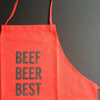 "DRESSSEN DR(RED) 6 ""BEEF BEER BEST""""APRON  RED COLOR"