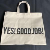 "DRESSSEN MARKET BAG [◉LARGE]  MBSBL13  ""YES!GOOD JOB!/ DRESSSEN    (サンドベージュカラー)"