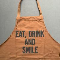 """限定発売 DRESSSEN WPAB16    DAY USE W POCKET  APRON    """" EAT、DRINK  AND SMILE"""