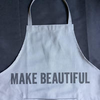 "DRESSSEN  DRVGRY11 REVERSIBLE  APRON""MAKE BEAUTIFUL/MAKE SMILE(リバーシブルエプロン)"