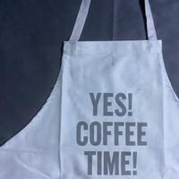 """[限定発売]DRESSSEN WPAGR10 DAY USE W POCKET  APRON   """"YES!COFFEE  TIME!"""" (GREY COLOR)"""