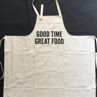 """[新型] DRESSSEN   PR12  THE PROFESSIONAL APRON"""" GOOD TIME GREAT FOOD """" ※首の紐をお好きな位置で結んで固定できます。"""