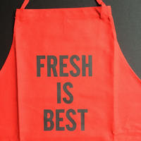 "DRESSSEN DR(RED) 4 ""FRESH IS BEST """"APRON  RED COLOR"