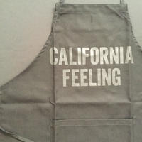 "DRESSSEN ADULT APRON     DB(BLK)1  ""CALIFORNIA FEELING"" BLACK COLOR"
