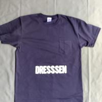 "⭐️限定販売 DRESSSEN  DSST77 DRES""SPECIAL""SSEN    "" DRESSSEN ""T-SHIRTS (生成りロゴ)  ネイビーカラー"