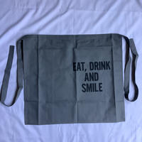 "⭐️[新色]DRESSSEN LWL GR3 ""EAT,DRINK  AND  SMILE""APRON(腰巻きエプロンです)"