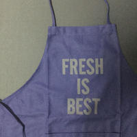 "DRESSSEN DR(NAVY)15  APRON ""FRESH IS BEST ""NAVY COLOR"