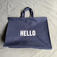 "DRESSSEN  MBXLN2  MARKET  BAG  XLARGE ""HELLO/GOODBYE""(dark  navy  color)"