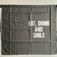 "⭐️[新色]DRESSSEN LWLBK3  ""EAT,DRINK  AND  SMILE""APRON(腰巻きエプロンです)  BLACK  COLOR"