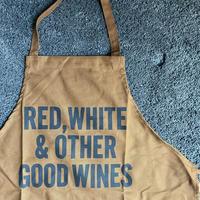 """限定発売 DRESSSEN   WPAB14  DAY USE W POCKET  APRON    """" RED WHITE OTHER  GOOD   WINE  ※正面に二つのポケットがございます"""