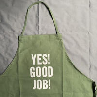 "[限定発売]DRESSSEN DR(GRN)20 ""YES! GOOD JOB!""APRON (生成りロゴ)"