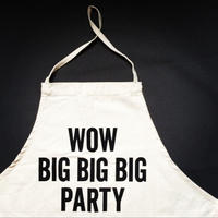 👦👧DRESSSEN KD19 KIDS APRON WOW BIG BIGBIG PARTY(※キッズエプロンです)