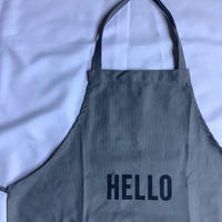 "DRESSSEN  DRVGRY2  REVERSIBLE  APRON""HELLO/GOODBYE(リバーシブルエプロン)"