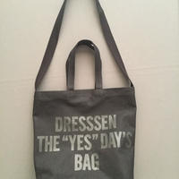 "DRESSSEN  TWO WAY BAG DBSHC3 ""DRESSSEN THE ""YES""DAYS BAG  BLACK COLOR"