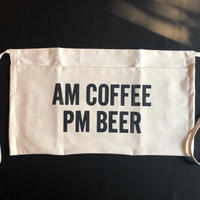 "DRESSSEN  LW10 LOWER WALL APRON  ""AM COFFEE PM BEER 2019年4月新発売です"