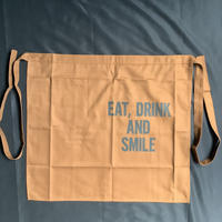 "DRESSSEN lower wall long  LWLB3 ""EAT, DRINK  AND SMILE"" APRON(腰巻きエプロンです)"