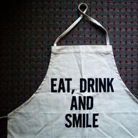 DRESSSEN ADULT APRON #46 EAT,DRINK AND SMILE