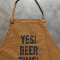 DRESSSEN DR(BRN)6 APRON YES! BEER TIME!