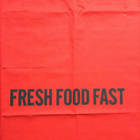 "DRESSSEN  lower wall long LWLB4 "" FRESH FOOD FAST"" APRON RED  COLOR ⭕️  公式オンラインストアのみの販売です"