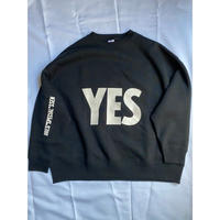 "DSS1 DRES""SPECIAL""SSEN  SWEAT  SHIRTS  YES (BLACK COLOR)   生成りロゴ"