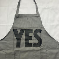 "[限定発売]DRESSSEN WPAGR3 DAY USE W POCKET  APRON   ""YES""(GREY COLOR  )※裏にNO THANKYOUのプリントあり"